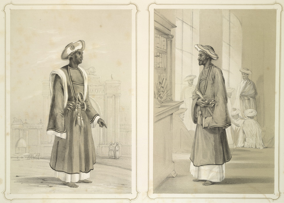 Dhulloo and Dedar Khan (jemadars or head servants)